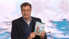 Ministerpräsident Markus Söder liest aus Robinson Crusoe.